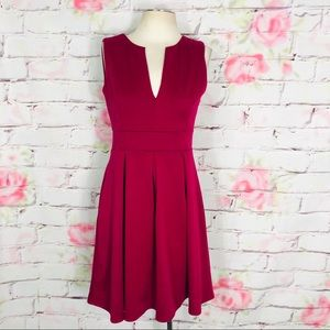 Yellow star berry pink sleeveless fit & flare dres